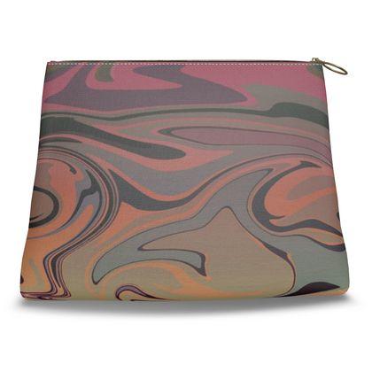 Clutch Bag - Marble Rainbow 3