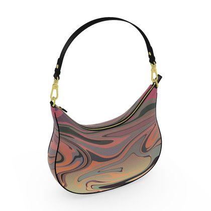 Curve Hobo Bag - Marble Rainbow 3