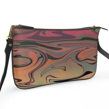 Pochette Double Zip Bag - Marble Rainbow 3