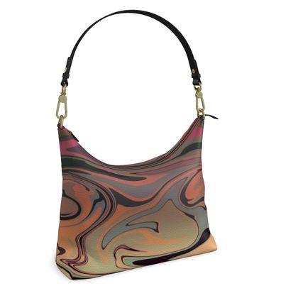 Square Hobo Bag - Marble Rainbow 3