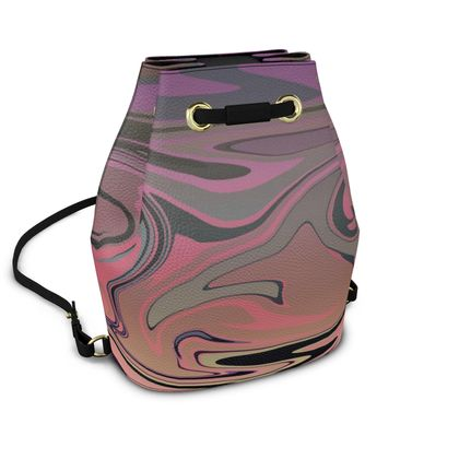 Bucket Backpack - Marble Rainbow 4