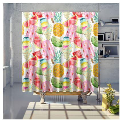 icecream shower curtain