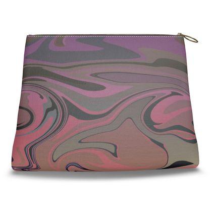 Clutch Bag - Marble Rainbow 4