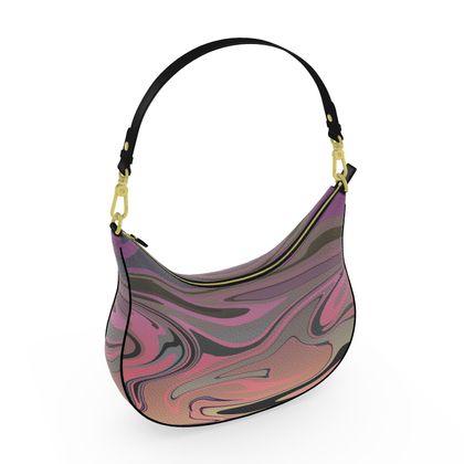 Curve Hobo Bag - Marble Rainbow 4