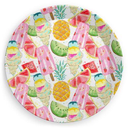 icecream party plates
