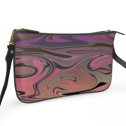 Pochette Double Zip Bag - Marble Rainbow 4