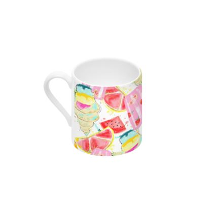 icecream cup and saucer