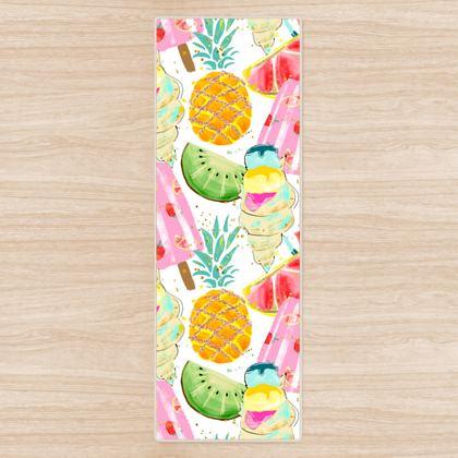 icecream and fruits yoga mat