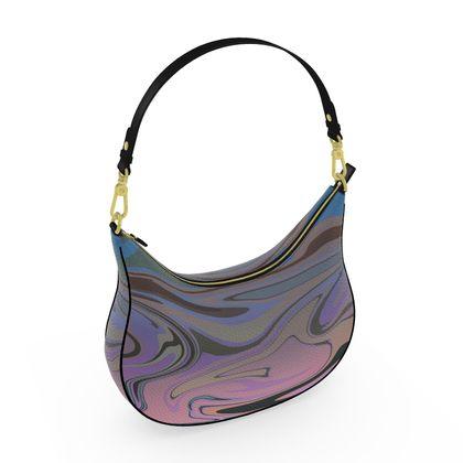 Curve Hobo Bag - Marble Rainbow 5