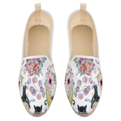 panthers and flowers loafer espadrilles