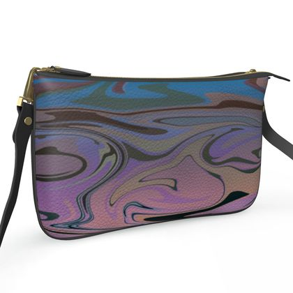 Pochette Double Zip Bag - Marble Rainbow 5