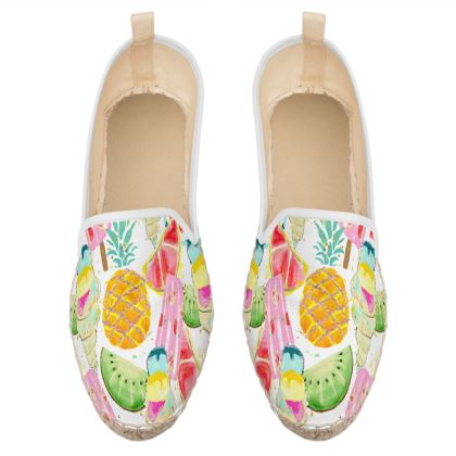 icecream and fruits loafer espadrilles