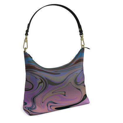 Square Hobo Bag - Marble Rainbow 5
