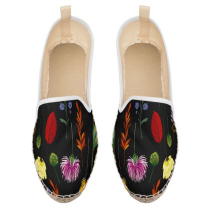 watercolor flowers loafer espadrilles
