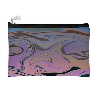 Zip Top Pouch - Marble Rainbow 5