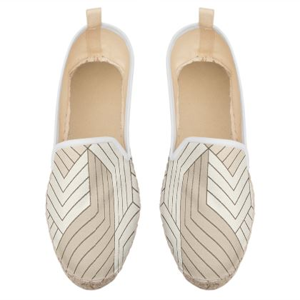 geometric pattern loafer espadrilles