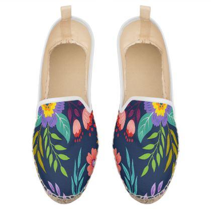 beauty floral loafer espadrilles