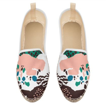 modern animal print loafer espadrilles