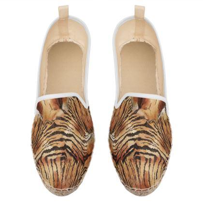 animal print loafer espadrilles