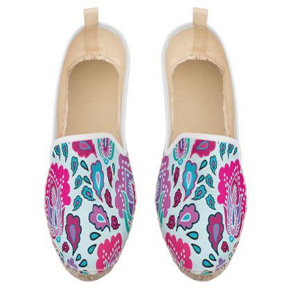paisley loafer espadrilles
