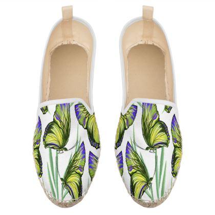 butterflies loafer espadrilles