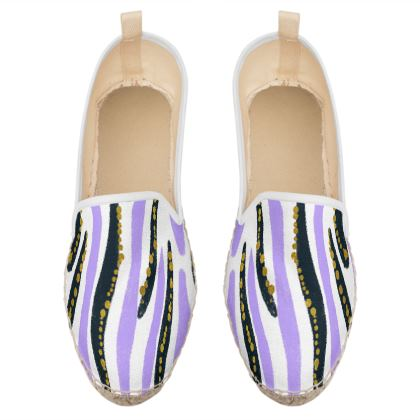 abstract strokes loafer espadrilles