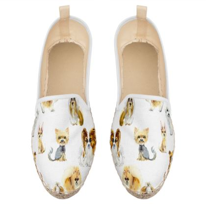 cute puppies loafer espadrilles