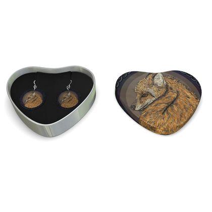 Celtic Fox Sterling Silver Earrings