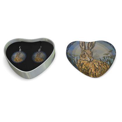 Celtic Hare Sterling Silver Earrings