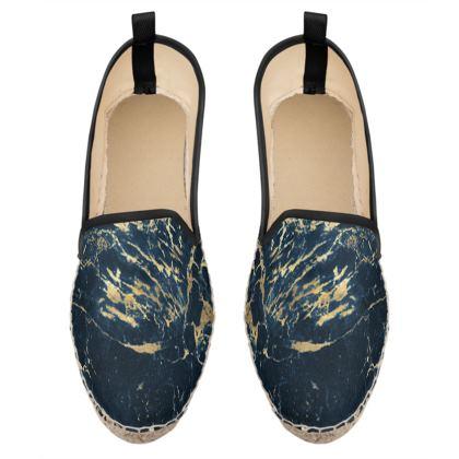 dark marble loafer espadrilles