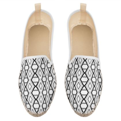 minimal geometric triangles loafer espadrilles