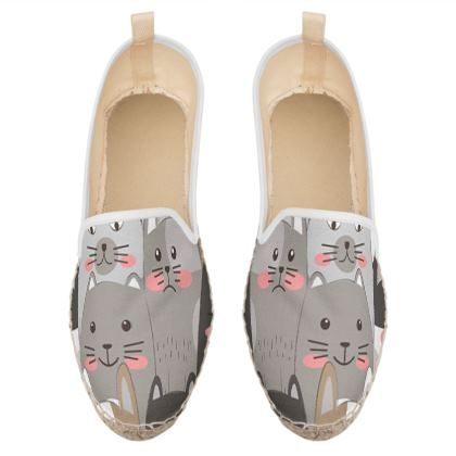 cute cats loafer espadrilles