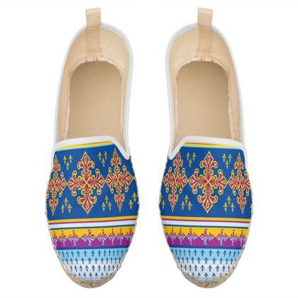 ethnic pattern loafer espadrilles