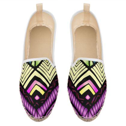 ethnic boho loafer espadrilles