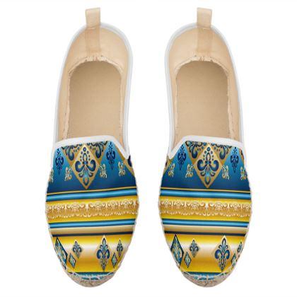 ethnic loafer espadrilles