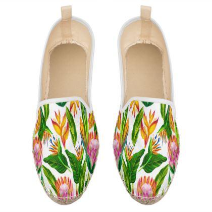 blooming flowers loafer espadrilles
