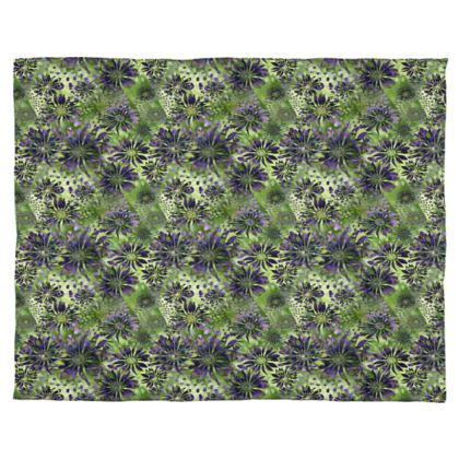 Chiffon Scarf: Purple and Green Coneflowers