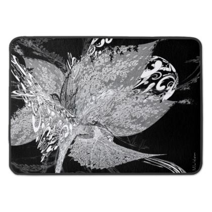 Bath Mat - Badrumsmatta - White Lace Black