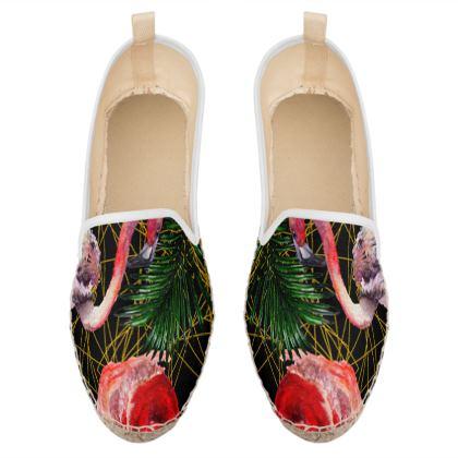 flamingo birds loafer espadrilles