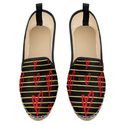 cute hearts loafer espadrilles
