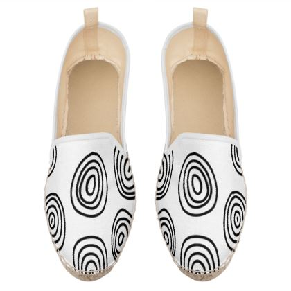 abstract circles loafer espadrilles