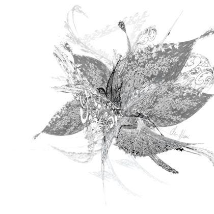Tunic, T Shirt Dress – Tunika, T-shirt klänning - White Lace White