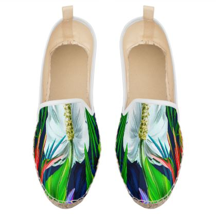 exotic flowers loafer espadrilles