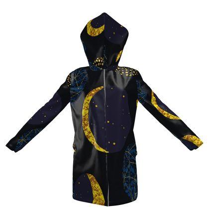 golden moon hooded rain mac