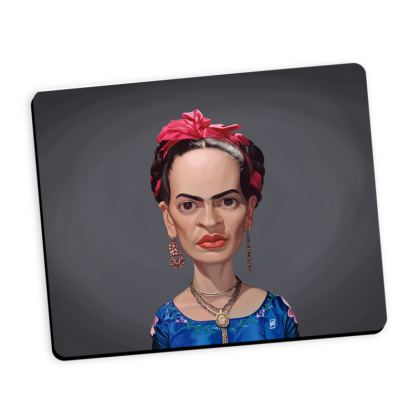 Frida Kahlo Celebrity Caricature Mouse Mat