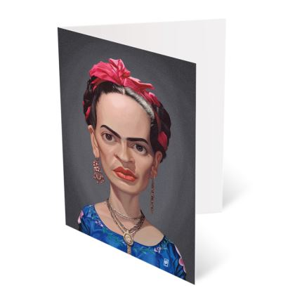 Frida Kahlo Celebrity Caricature Occasions Cards