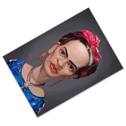 Frida Kahlo Celebrity Caricature Postcard