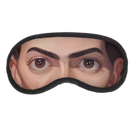 Frida Kahlo Celebrity Caricature Eye Mask