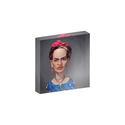 Frida Kahlo Celebrity Caricature Acrylic Photo Blocks