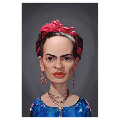 Frida Kahlo Celebrity Caricature Art Print